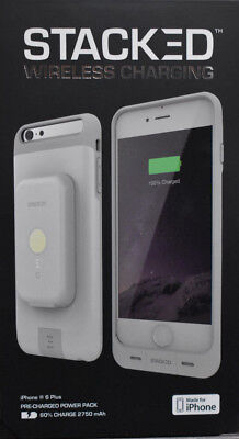 Stacked Wireless Charging Iphone 6 Plus Case White