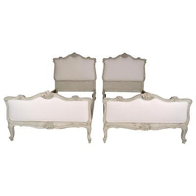Beautiful Pair of 1900s French Louis XV-style Bed Frames made from Solid Walnut