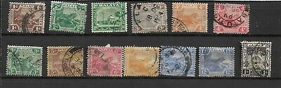 Federated Malay States 1904-22 Used Definitives My Ref 9
