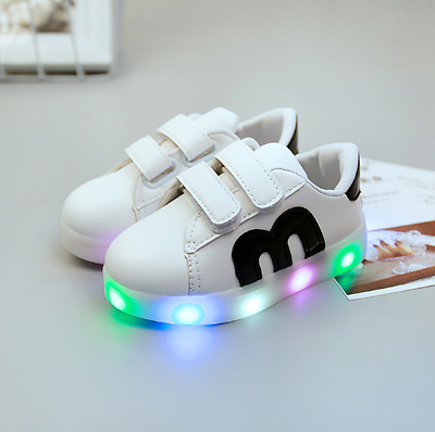 LED Light Kids Boys Child Sports Shoes Baby Girls Casual Running Sneaker Shoes