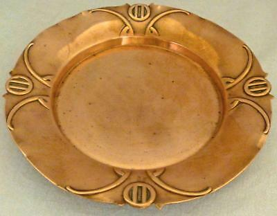 Secessionist Art Nouveau Copper Dish or Plate by WMF