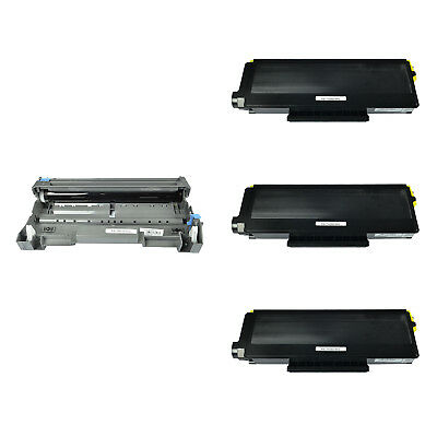 3PK TN580 Toner 1PK DR520 Drum Combo for Brother DCP-8060 HL-5240 5250 HL-5250DN
