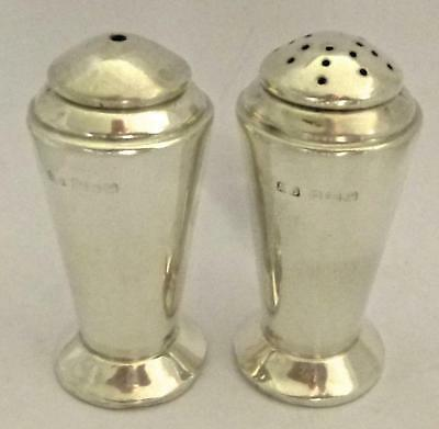 Sterling Silver Salt & Pepper Shakers: Birmingham 1939