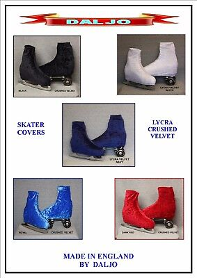 Ice Skating / Roller Skating  Lycra Crushed Velvet Boot Covers 2