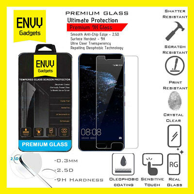 Real Genuine Tempered Glass Film Screen Protector For Huawei P10 / VTR-L09