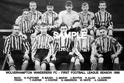 Wolverhampton Wanderers FC 1888 Team Photo