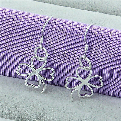 New Fashion Ladies Jewelry 925Sterling Silver Dangle/Stud Earrings Gift Hot Sale