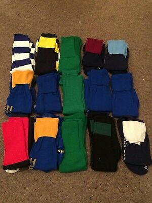 Mixed pack of 15 pairs rugby/football socks, mens