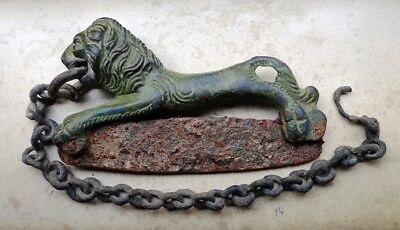 Roman Razor with Bronze Handle and Iron Blade.Circa 1s-3rd century AD.Intact.