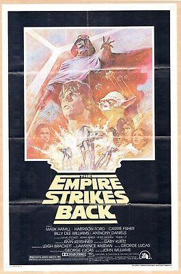 Orig. 1981 STAR WARS THE EMPIRE STRIKES BACK Summer Re-release Theatrical Poster