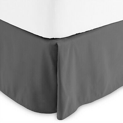 Bed Skirt Hotel Quality Double Brushed Pleated Tailored Dust Ruffle