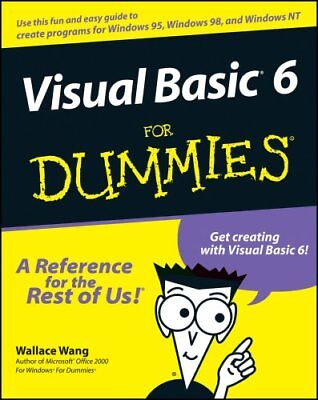 Visual Basic 6 For Dummies by Wallace Wang 9780764503702 (Paperback, 1998)