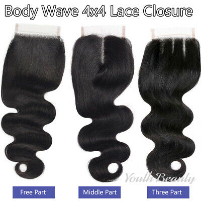 Brazilian Hair Lace Frontal/Closure GRADED 8A Virgin Human Hair Straight/BWave