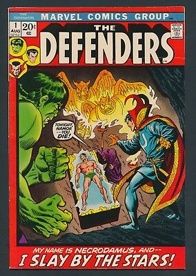 KEY BRONZE AGE 1972 THE DEFENDERS #1 - 1st ISSUE IN NEW SERIES SOLID COPY