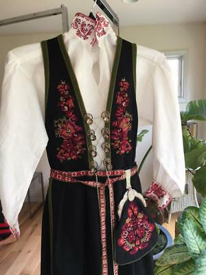 Authentic Superb Norwegian M /l Telemark Bunad From Norway Gorgeous!!