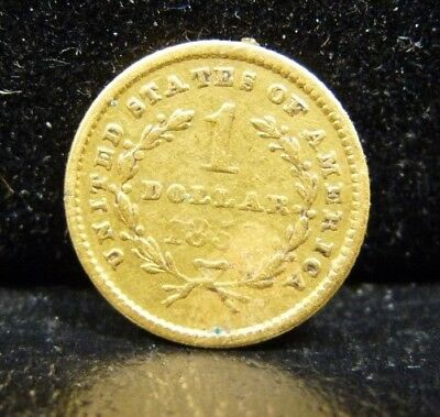 1953 Gold $1 Dollar - Damaged - Once used for a stick pin