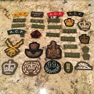 Rare lot of 29 Canadian WWII Army RAF NAVY Military some bullion theater Patches