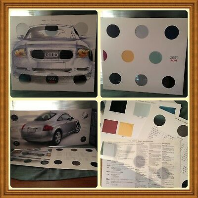 2001 Audi TT Coupe Vision Fancy Sales Promotional Brochure Collectible New
