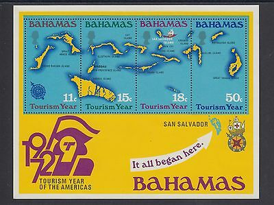 Bahamas 1972 Tourism Year of the Americas Mini Sheet Mint Never Hinged (#1867)