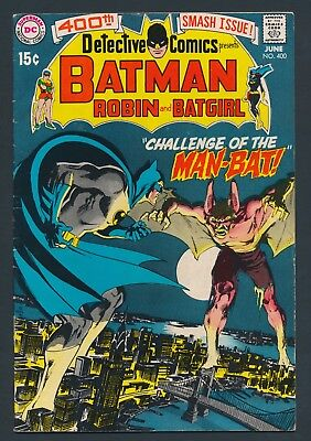 KEY DC COMICS 1970 BATMAN in DETECTIVE COMICS #400 - FIRST APPEARANCE of MAN-BAT
