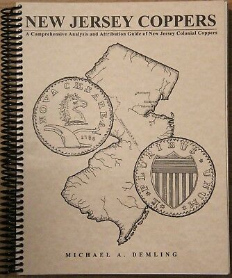 """New Jersey Coppers"" by Michael Demling, 2011, spiral bound, nice condition"