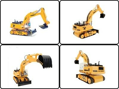 RC Tractor Bulldozer Remote Control Excavator Crawler Truck Metal Digger Car Toy