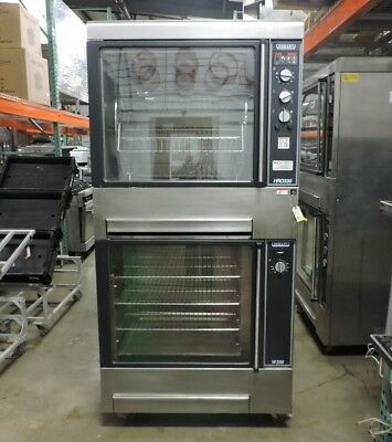Hobart HRW330-W330 Commercial Single Rotisserie Oven with Bottom Warmer