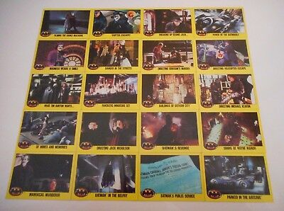 *20 x BATMAN THE MOVIE TRADING CARDS - DC COMICS 1989-FREE POST*