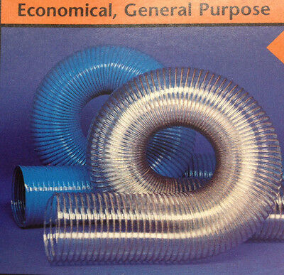 2''id Cvd Clear Pvc Hose/ducting With Wire Helix -20 To +180''f''
