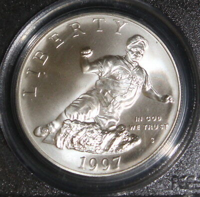 1997 PCGS MS 69 Jackie Robinson Commemorative Silver One Dollar Coin