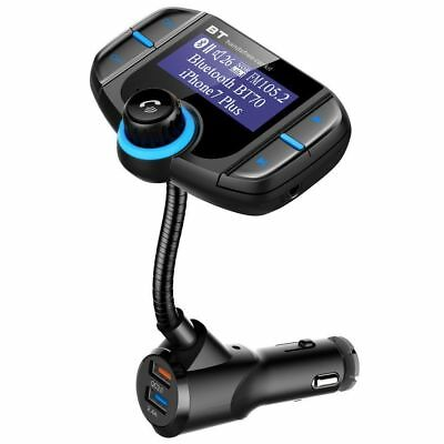 Bluetooth Handsfree Car Kit MP3 Player FM Transmitter Radio 3 USB Ports Charger