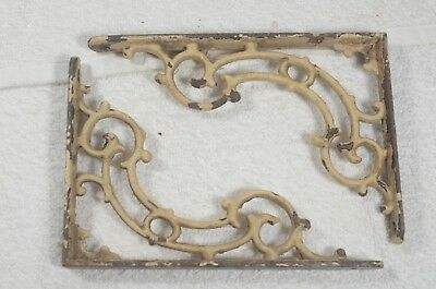 Vintage ornate shelf brackets - 2