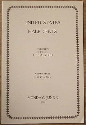 S.H. Chapman, Alvord Collection of U.S. Half Cents auction catalog, June 9, 1924