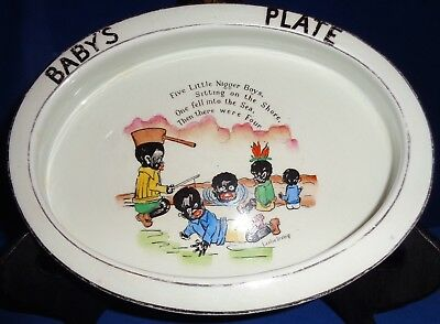 Vintage Naughty Nigger Boys Baby's Plate by Paragon England by Leslie Irving