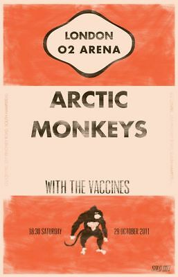 0607 Vintage Music Poster Art - Artic Monkeys London O2 Arena