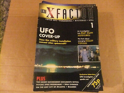 THE X FACTOR. 1990's Cover-ups, Paranormal, Mysteries & UFO (51) magazines.