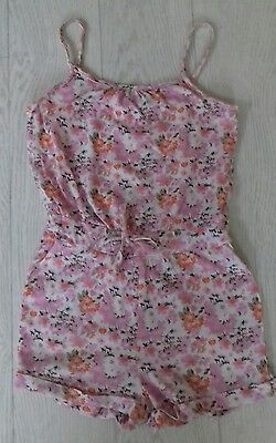 Pretty Girls Playsuit - Pink Flowers  Age 2-4 Years