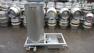 stainless steel tank,mobile,brewery,cleaning,150Lt,albion valve