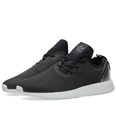 on sale b8080 d9ada New Mens adidas Grey Zx Flux Adv Asym Trainers Black Lace Up