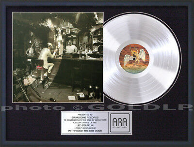 LED ZEPPELIN IN THROUGH THE OUT DOOR PLATINUM LP RECORD AWARD riaa type cd disc
