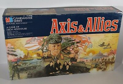 Axis and Allies (Axis & Allies) Milton Bradley 1987 (Spring 1942) 100% Complete