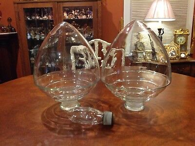 Pair Of Antique Drug Store Hanging Apothecary Glass Jars