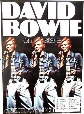 0626 Vintage Music Poster Art - David Bowie Station To Station Tour