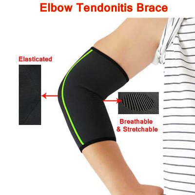 Knitted Elbow Tendonitis Brace Arm Support Compression Sleeve Tennis Golfers
