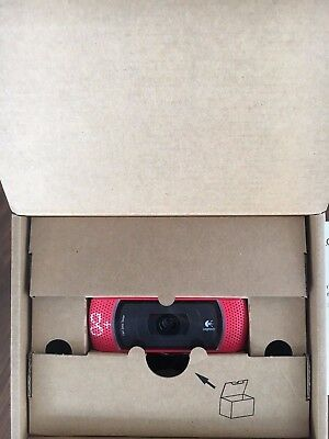 Logitech B910 HD Webcam USB 2.0 1280 x 720 Video Resolution (Red)