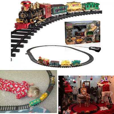 RC Remote Control Classic Electric Train Set w/ Lights Sounds & Smoke Gift Kids