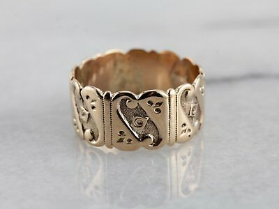 Gorgeous Antique Victorian Cigar Band in Rose Gold