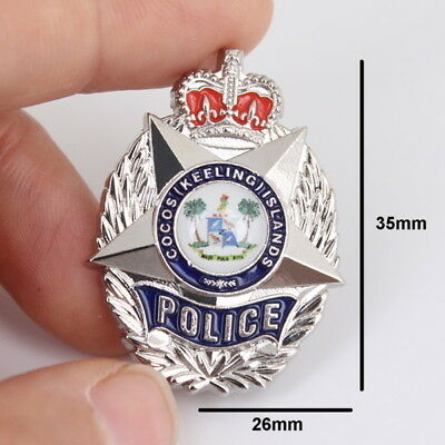 Cocos (Keeling) Islands Police Badge Style Pin (social)