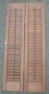 Vintage window shutter louvered salvage