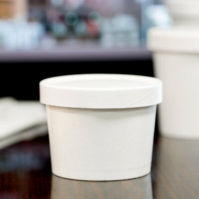 12 oz. Double-Wall White Paper Soup / Hot Food Cup with Vented Lid - 250/Case